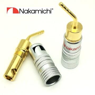 ナカミチ Nakamichi 24K 金メッキ スピーカー ターミナル用 ピンプラグ 赤黒8本セット