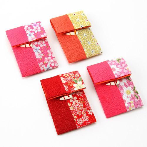 ソーイング 携帯 セット 和柄 ちりめん はさみ 針 ひも通し 安全ピン ボタン 糸 お土産 ギフト プレゼントに メール便¥164