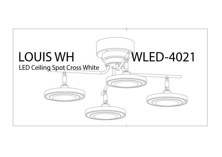 LEDシーリングスポット 調光・調色クロス4灯3