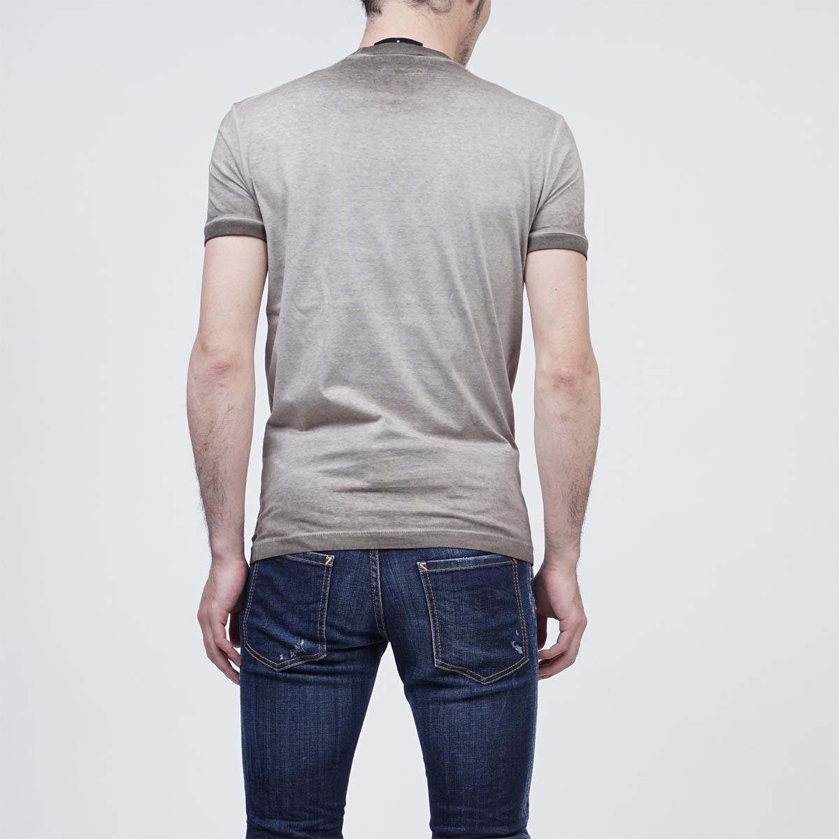 ヴィンテージグレー メンズ DSQUARED2 【返品送料無料】 【ラッピング無料】 ディースクエアード 【あす楽対応_関東】 s74gd0208 s22427 816 クルーネックTシャツ グレー系
