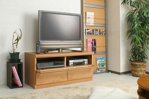 木製テレビ台 ≪アルダー材テレビボード 101cm幅≫ ナチュラルタイプの画像