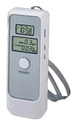携帯できる小型の簡易アルコール検査機