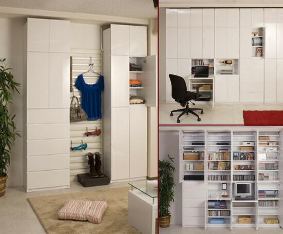 壁面収納家具オープンタイプ