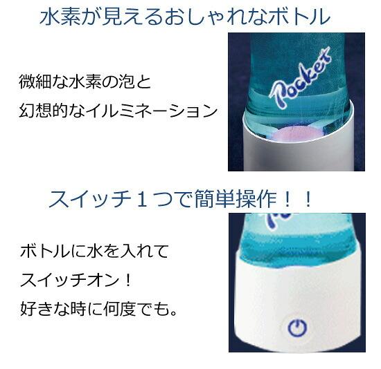 水素が見える携帯用水素水サーバー
