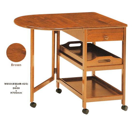 テーブル付きキッチンワゴン