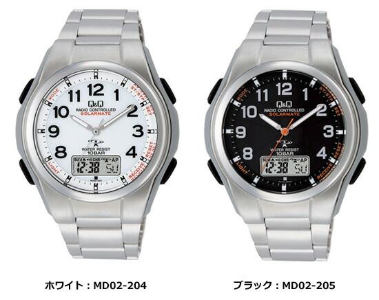 ソーラー電源機能搭載電波腕時計 MD02