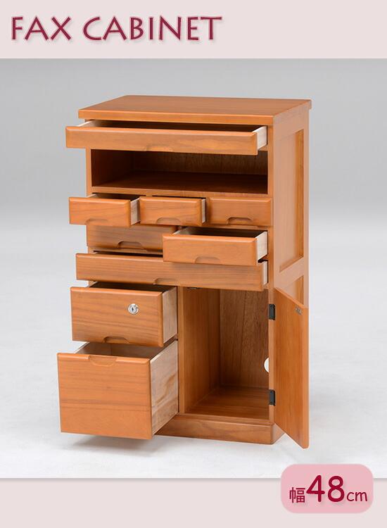 木製FAX置き
