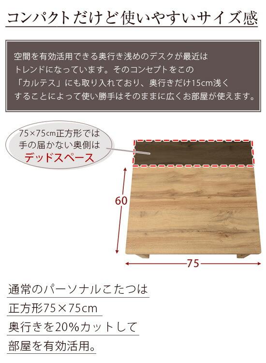 コンパクトこたつテーブル
