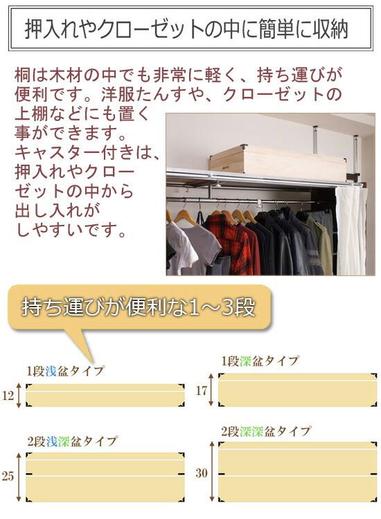 桐製衣装箱