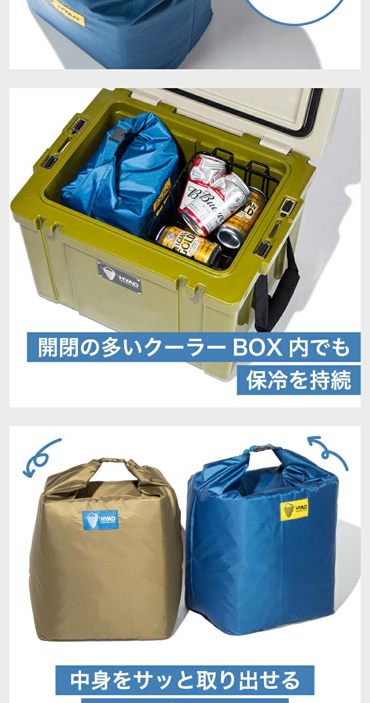 クーラーパック8 クーラーバッグ クーラーボックス内に使う保冷バッグ 保冷 缶ビール 350ml缶x6本分 キャンプ アウトドア 保冷ボックス