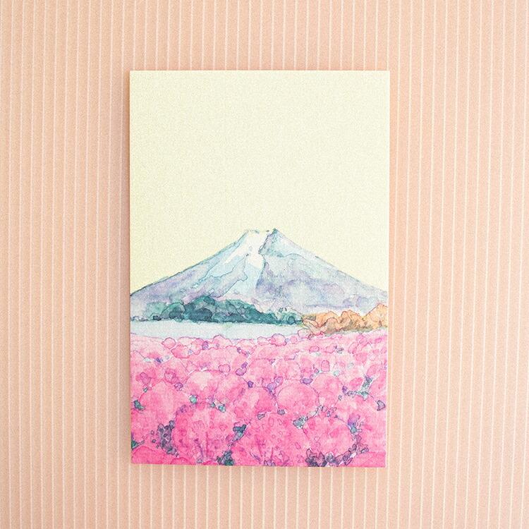 季節のはがき富士とコキア