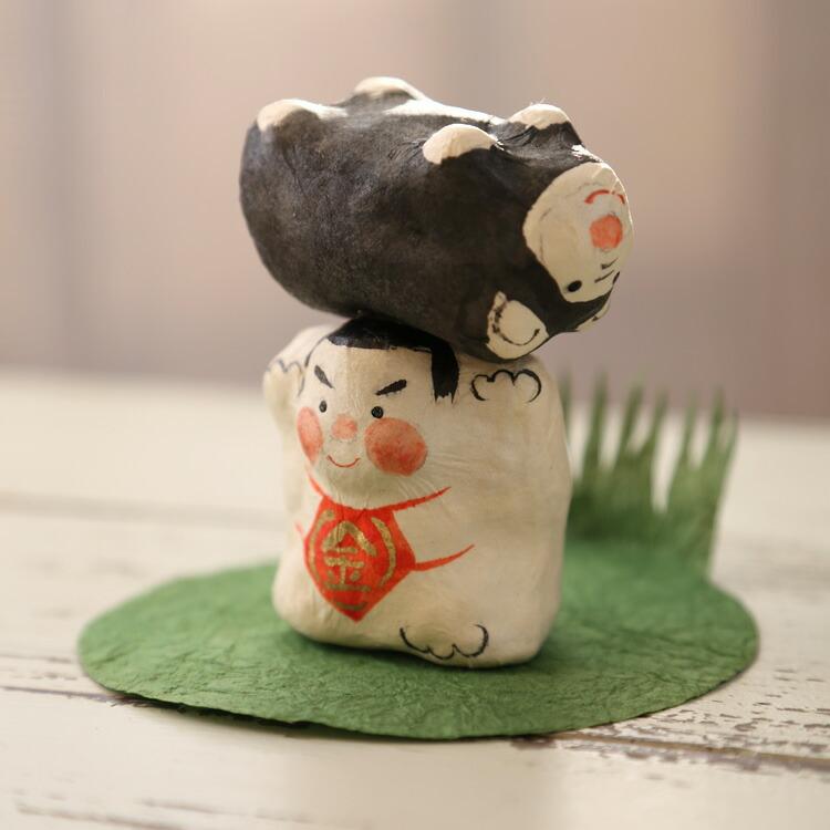張り子 熊かつぎ金太郎