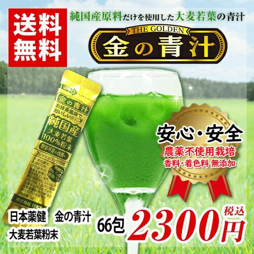 金の青汁 大麦若葉粉末粉末 100%青汁 3g×66包