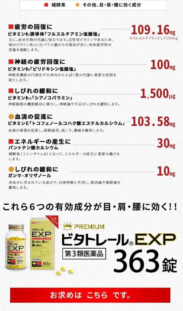 ビタトレール プレミアム EXP 363錠