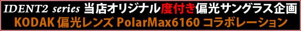 SWANS IDENT2 シリーズ + KODAK polarmax6160 度付き偏光レンズセット
