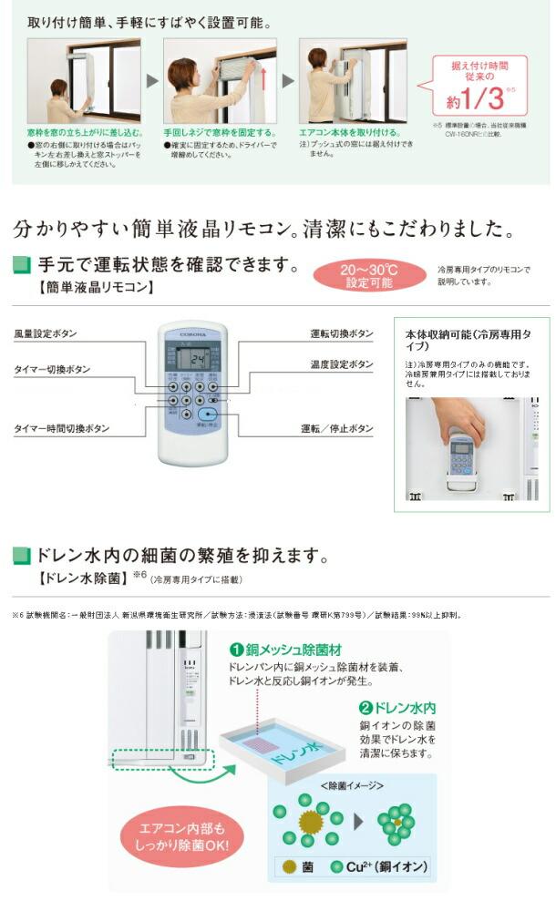 コロナ_窓エアコン説明3