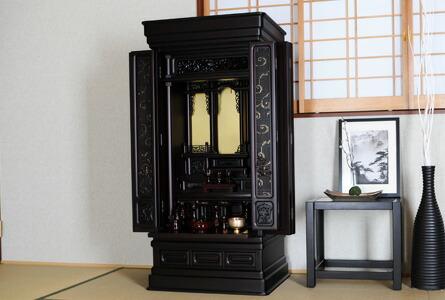 唐木仏壇 如月 紫檀調 設置例