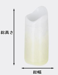 陶器 九谷焼銀彩 ほのか イエロー 線香差し(線香立)