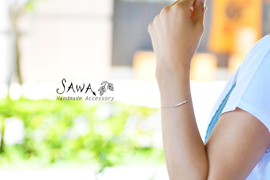 【SAWA サワ】淡水パール 並び ブレスレット