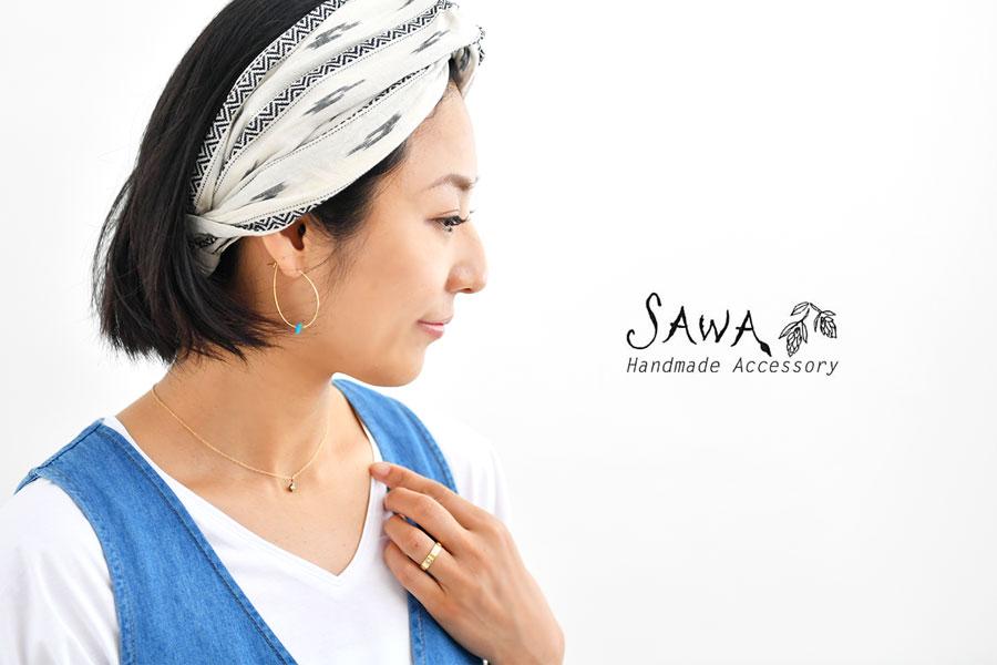 【SAWA サワ】ヴィンテージ ラインストーン シンプル  ネックレス