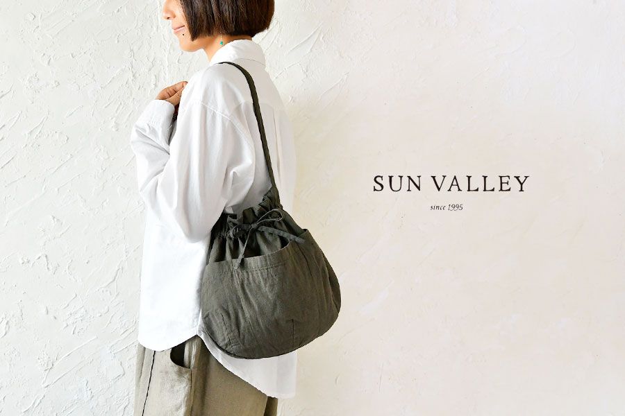 【SUN VALLEY サンバレー】コットン ウール 二重織 ツイル バケツ バッグ