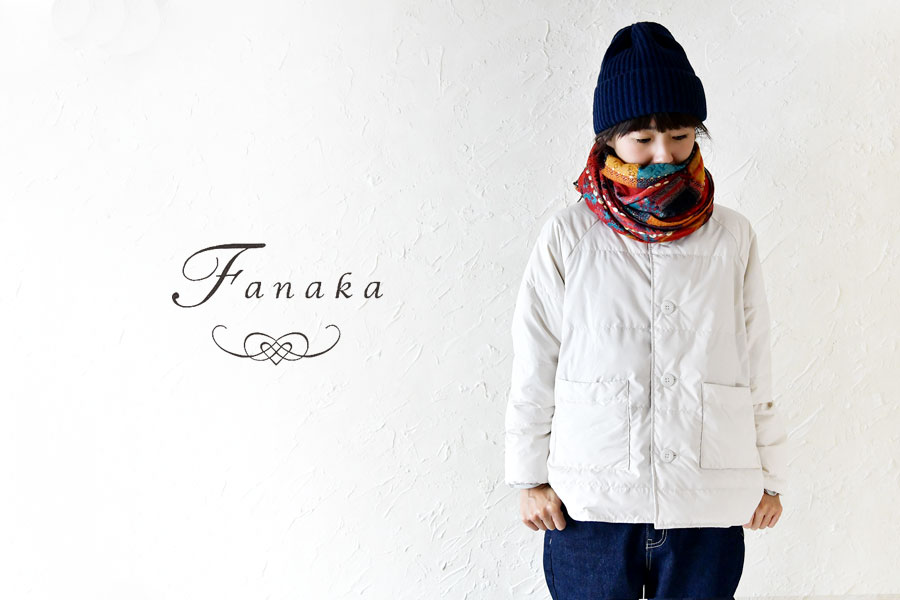 【Fanaka ファナカ】アクリル ジャガード 刺繍 ストール
