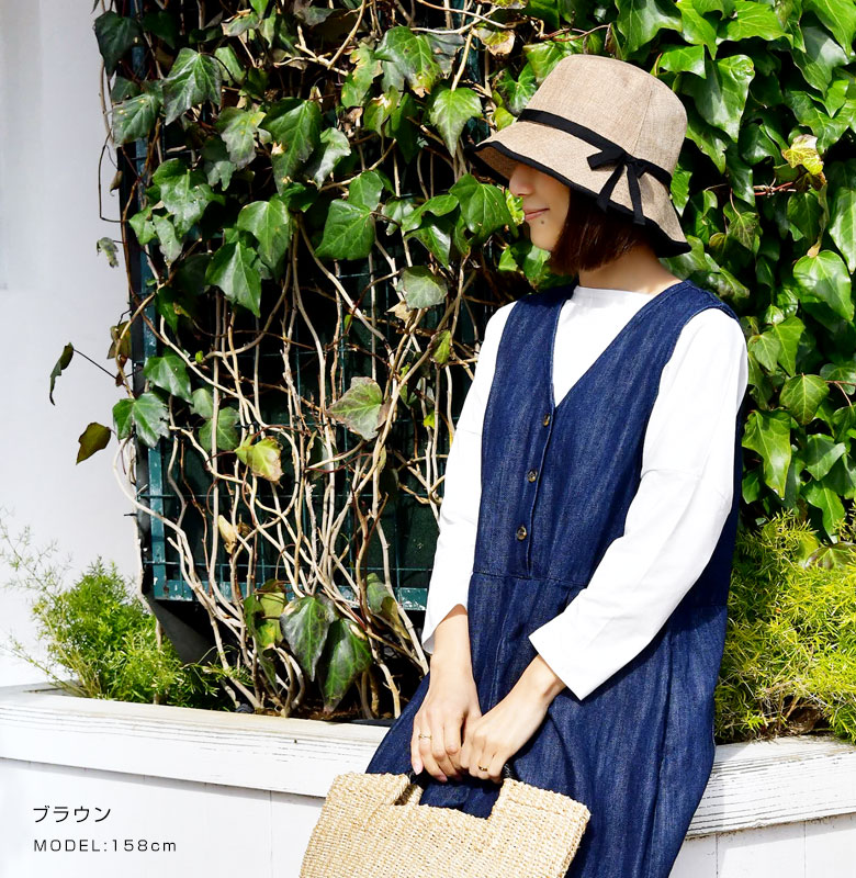 【odds オッズ】CLOTH TIE HAT 20' / ワイヤー入り リボン ハット