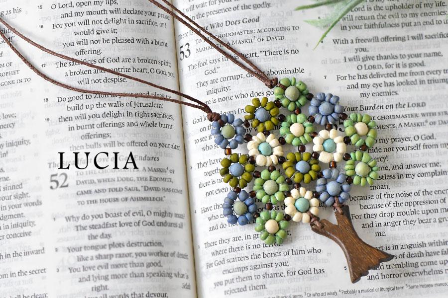【LUCIA ルチア】ウッド ツリー ネックレス