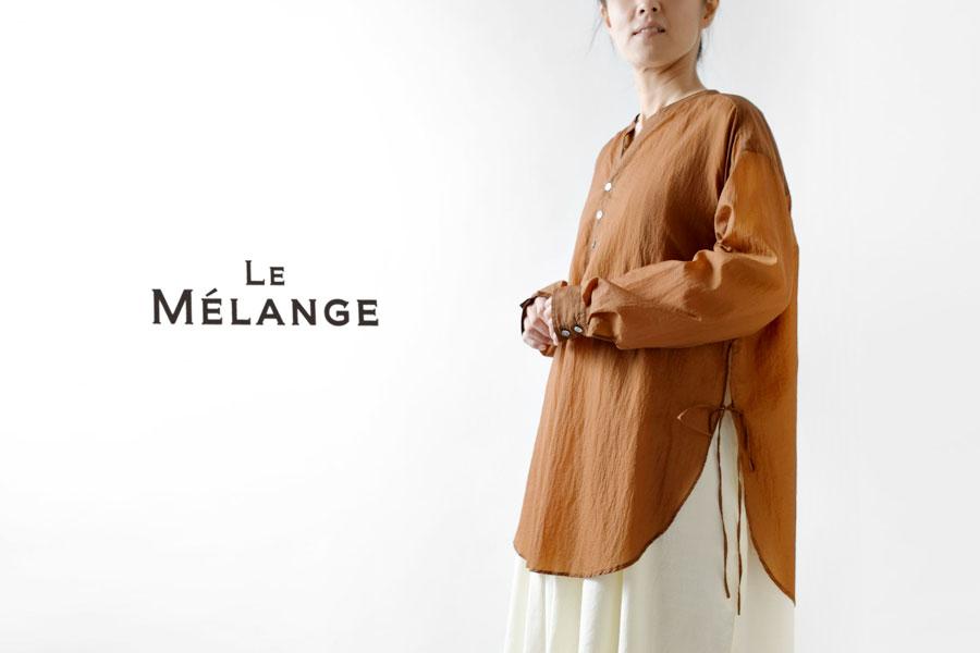 【Le Melange ルメランジュ / ルメランジェ】シアー ブラウス