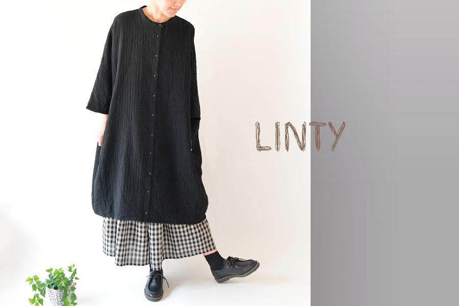 【LINTY リンティー】コットン ダブルガーゼ ドルマン コクーン ワンピース