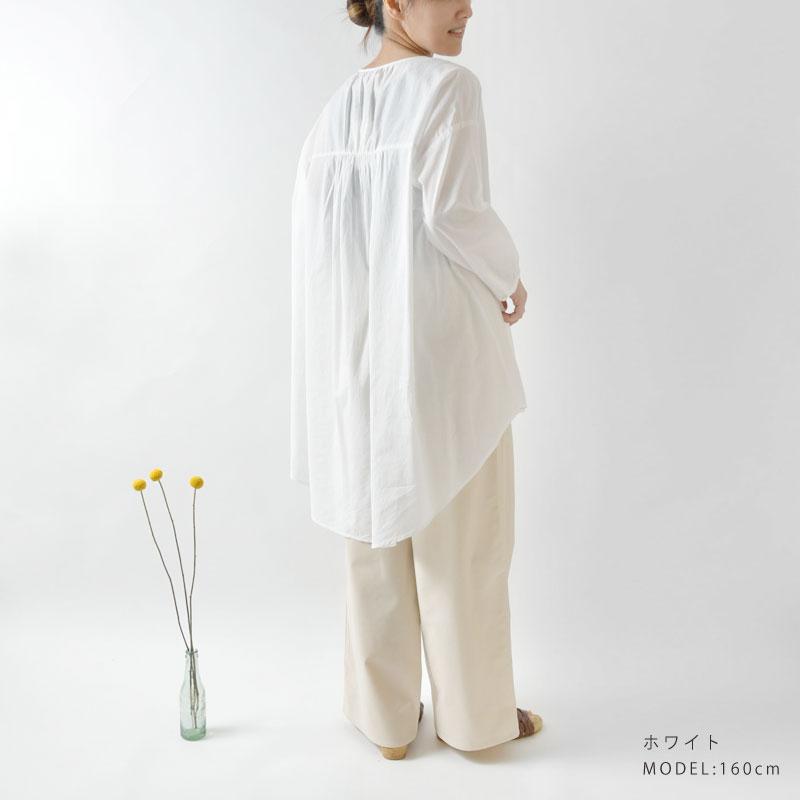 【Fanaka ファナカ】コットン ボタニカル刺繍 チュニック