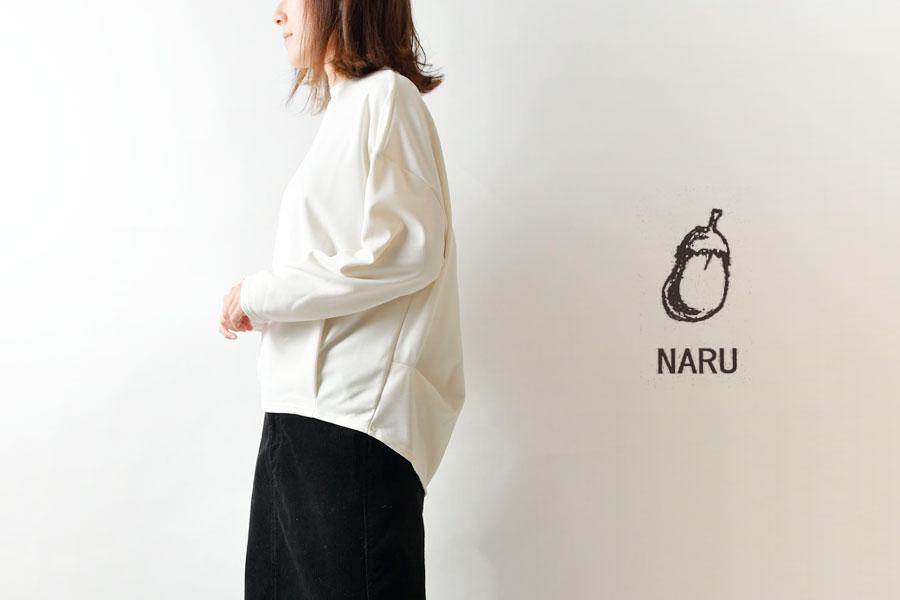 【NARU ナル】ピュア ストレッチ ポンチ タック プルオーバー カットソー