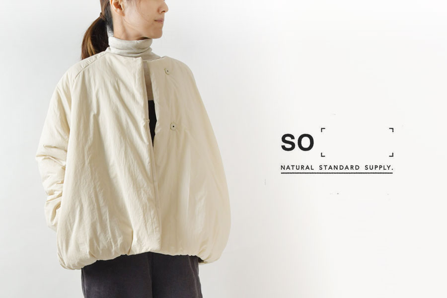【SO エスオー】ワッシャー ブロード コットン 中綿 ショート ジャケット