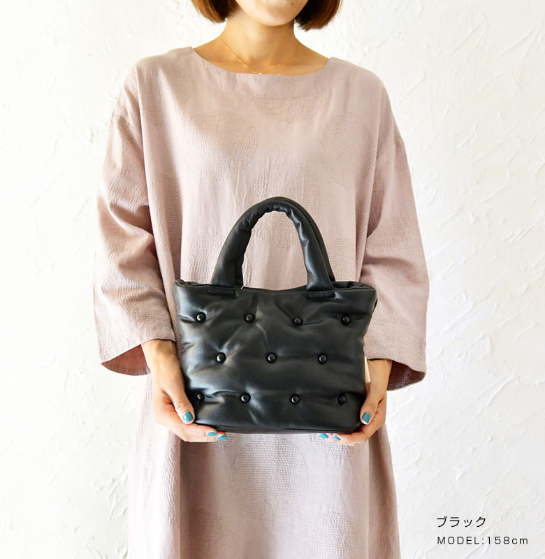 【Beaure ビュレ/ヴュレ】ラムレザー ボンディング ミニ トート バッグ