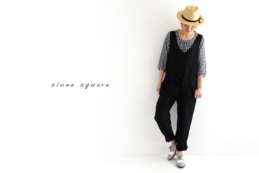 【slone square スロンスクエア】ベルギー リネン オールインワン