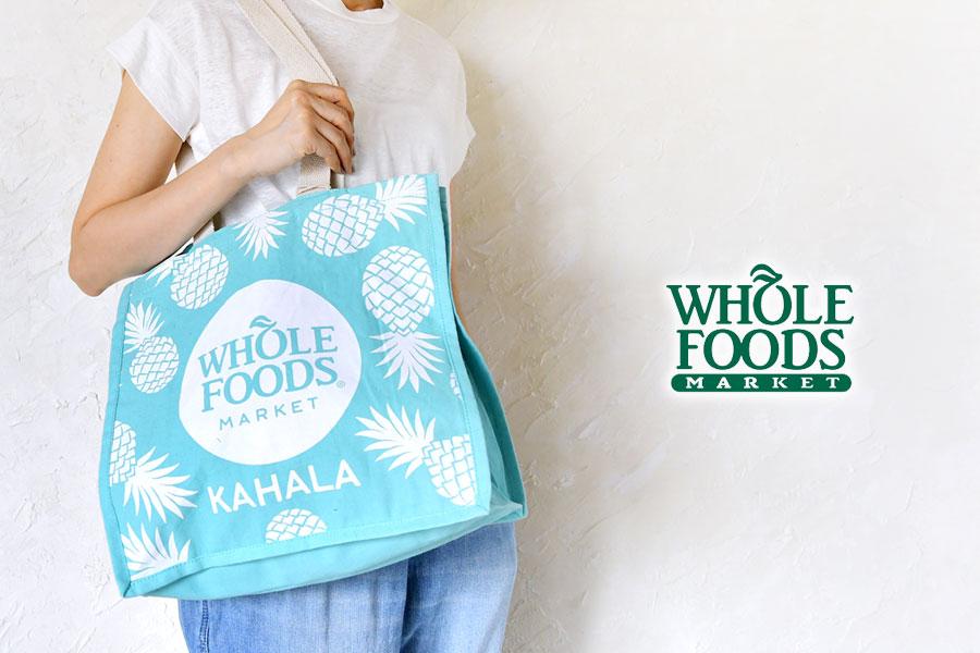 【WHOLE FOODS ホールフーズ】TAG ALOHA コラボ トートバッグ 【ハワイ限定】KAHALA パイナップル