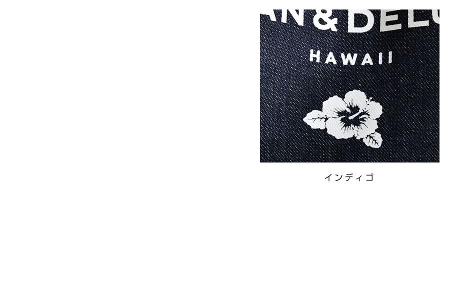 【DEAN & DELUCA ディーン・アンド・デルーカ】  スモール トート バッグ / デニム インディゴ【ハワイ限定】