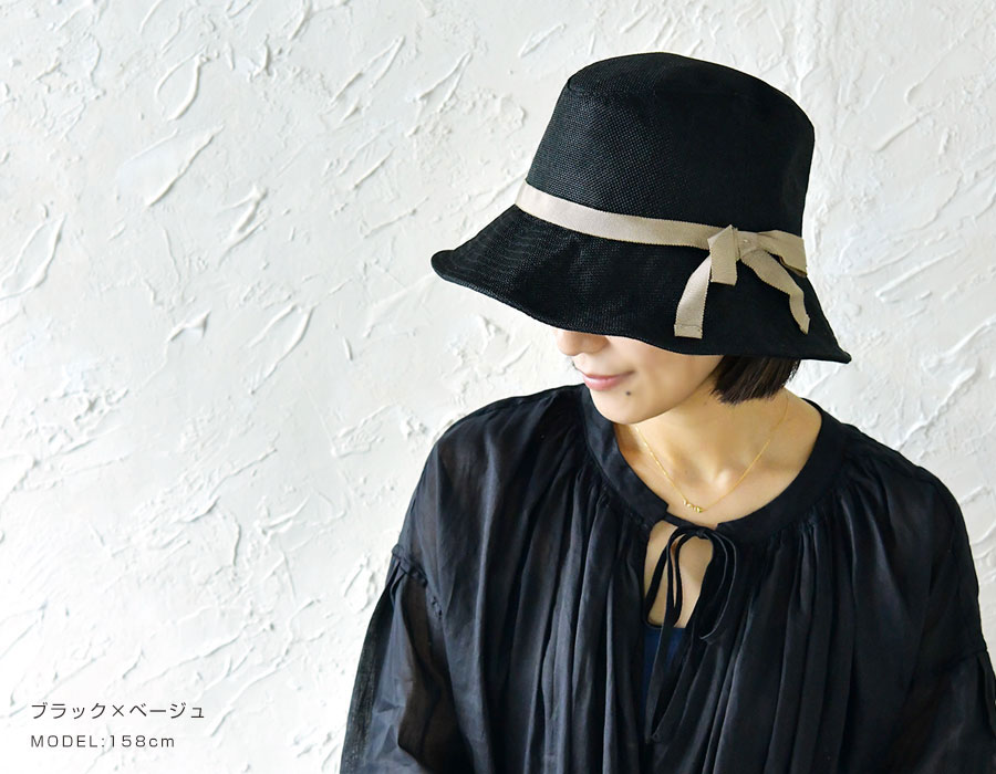 【odds オッズ】CLOTH TIE HAT 19' /  ワイヤー入り  リボン ハット