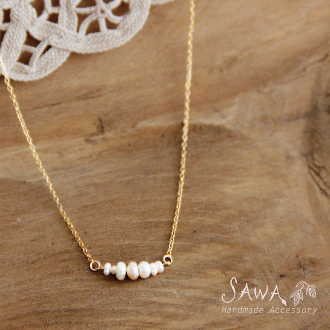 【SAWA サワ】淡水パール 並び ネックレス