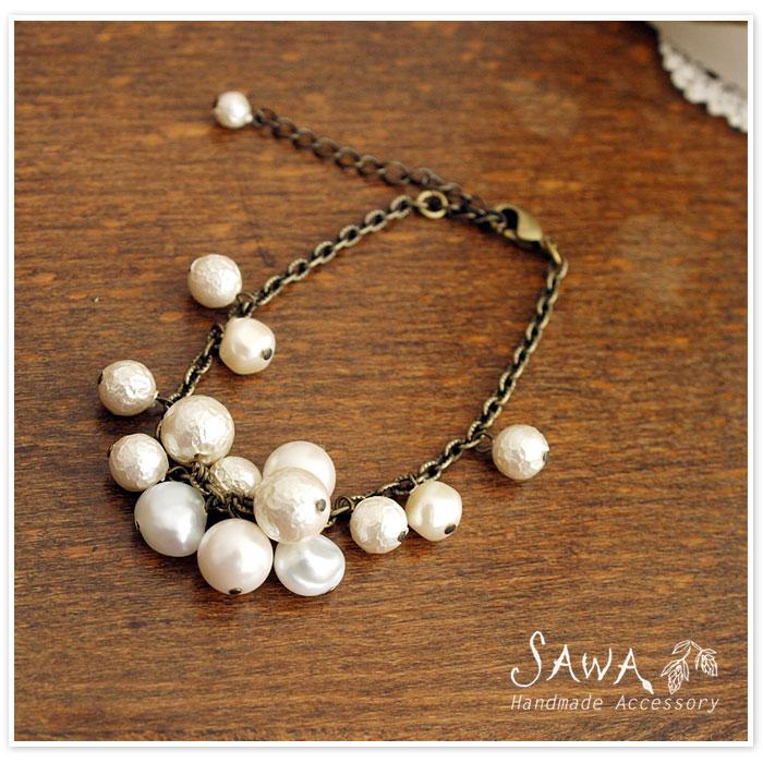 【SAWA サワ】パール 密集型 ブレスレット