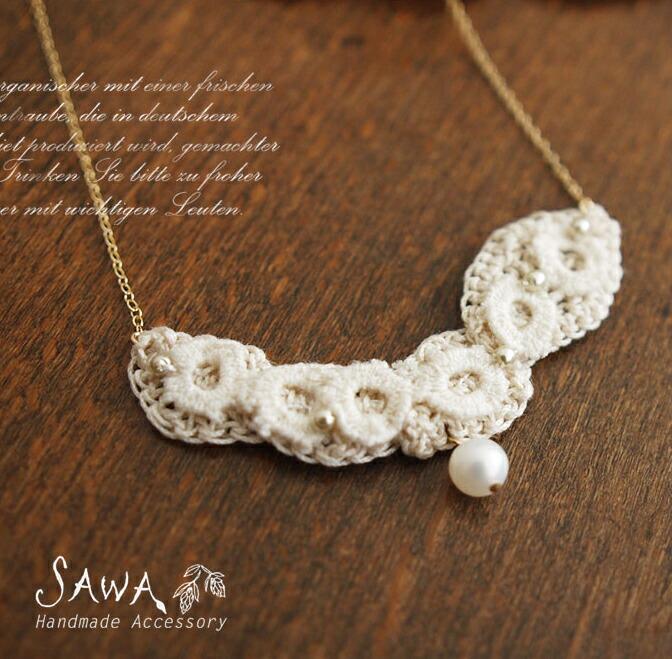 【SAWA サワ】14kgf リーフモチーフ  ネックレス
