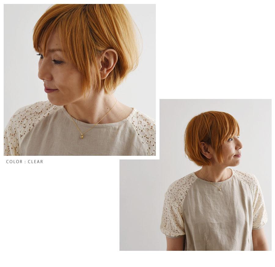 【SAWA サワ】14k ヴィンテージ ガラス ストーン ネックレス