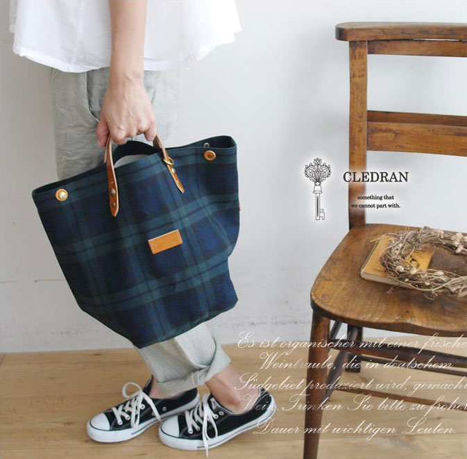 【CLEDRAN クレドラン】VARIE 2WAY TOTE/ コットン リネン 2WAY トート バック