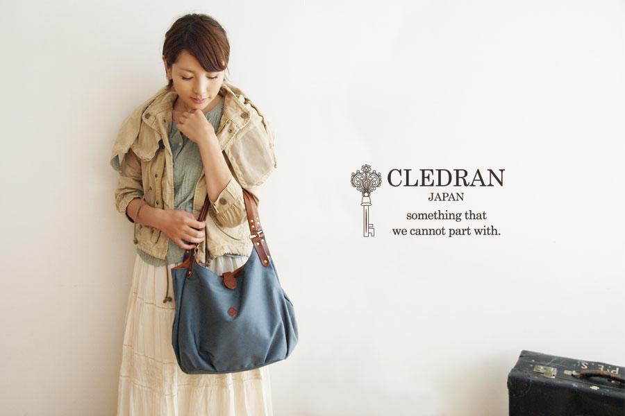 【CLEDRAN クレドラン】PARE BOSTON/ ポーチ付き トートバッグ