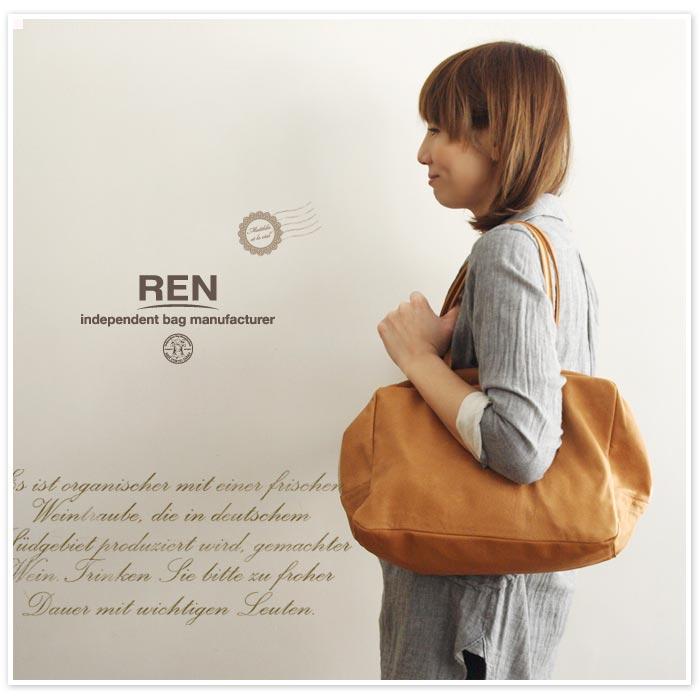 【REN レン】スクエア ダッフル トート バッグ Mサイズ