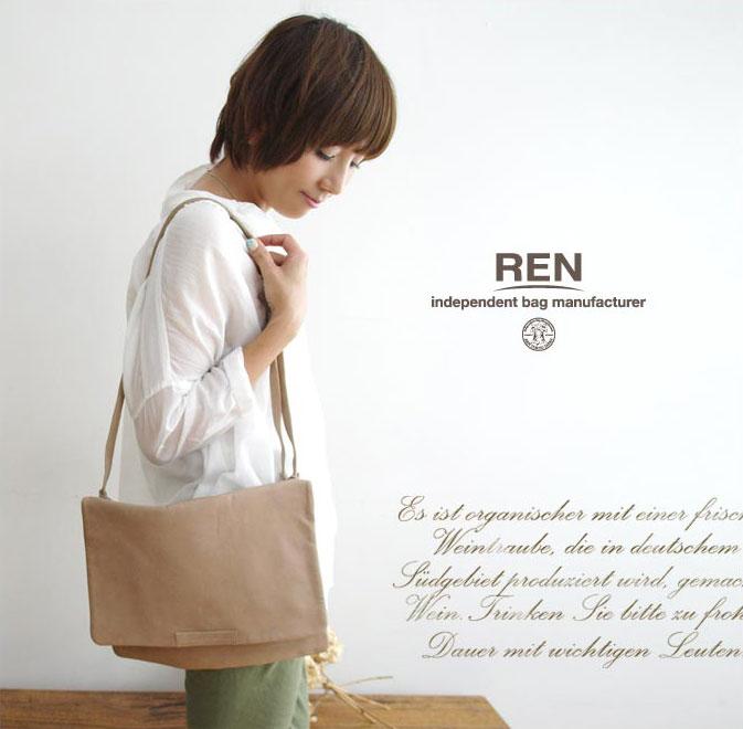 【REN レン】クラッチ ショルダー バッグ Mサイズ