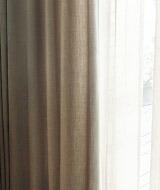 遮光ではないカーテン無地カーテントート