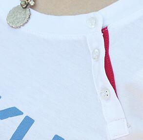 襟元スナップボタン★ホワイト