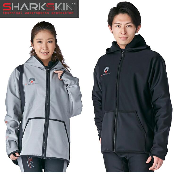 [ SHARKSKIN ] シャークスキン チルプルーフ フードジャケット ブラック ダイビング 防寒 寒さ対策 船 ボート