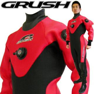 GRUSH ドライスーツ メンズ RED